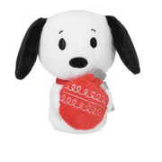 Hallmark Peanuts Christmas Snoopy with Ornament Itty Bittys Plush New with Tag