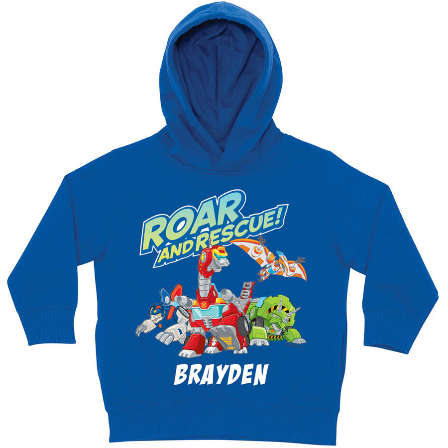 Personalized Transformers Rescue Bots Roar and Rescue Blue Toddler Boys' Hoodie