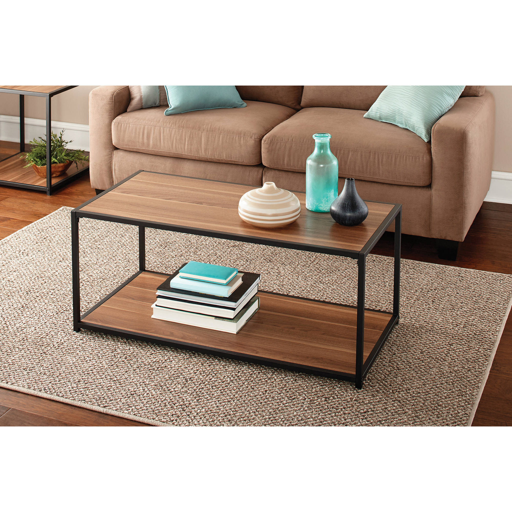 Mainstays Metro Coffee Table Multiple Finishes Walmart