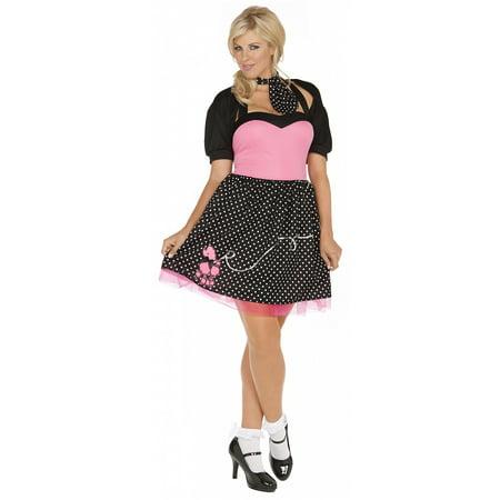 Sock Hop Cutie Plus Size Adult Costume - Plus Size 1X/2X