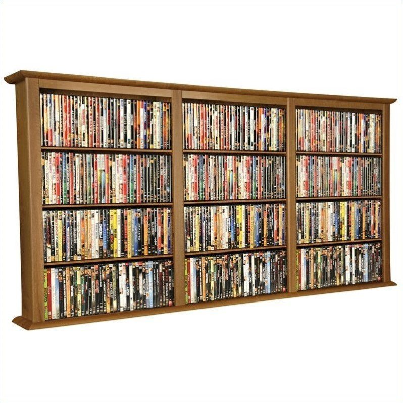 Venture Horizon Triple Wall Mount Media Cabinet in Oak