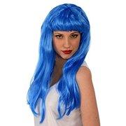 Kangaroo Costume Wigs - Glamorous Blue Wig with Bangs
