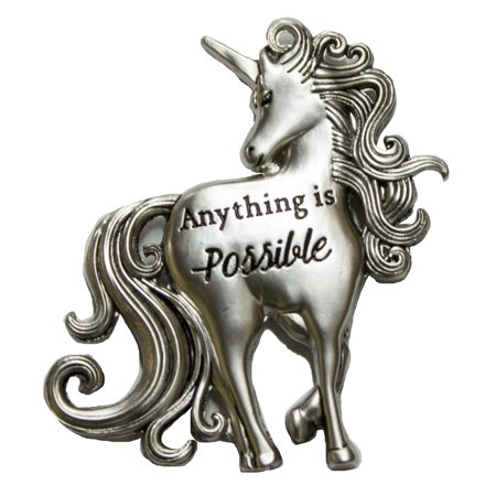 Magical Unicorn Inspirational Zinc Pocket Charm With Story Card
