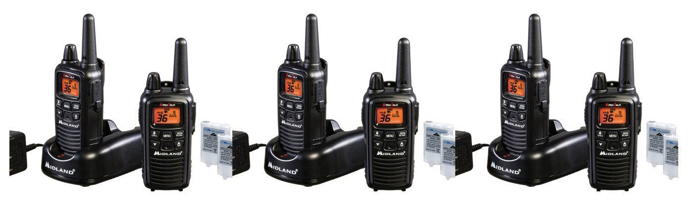 Midland LXT600VP3 FRS_GMRS 2_Way Radio Up to 26_Miles 36 Channels, Brand New 6 PACK by Midland