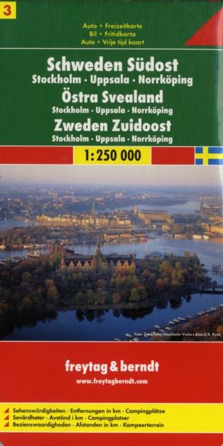 Sweden Southeast Road Leisure Map Stockholm Uppsala Norrkoping