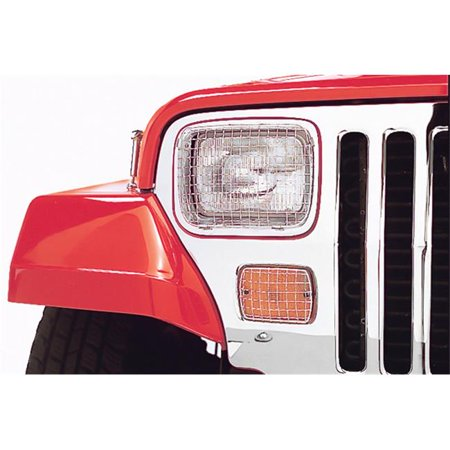 Stone Guard Set, Stainless Steel, 87-95 Jeep Wrangler YJ - image 1 de 1