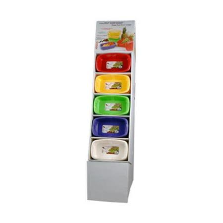 Fruit Basket Floor Display, Assorted - 20 per Pack Assorted Seasonal Fruit Basket