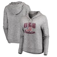 New England Revolution Fanatics Branded Women's Cozy Collection Steadfast Fleece Tri-Blend Pullover Hoodie - Heathered