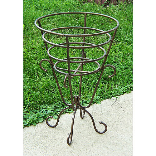 Gold Cup Plant Stand, Antique Bronze