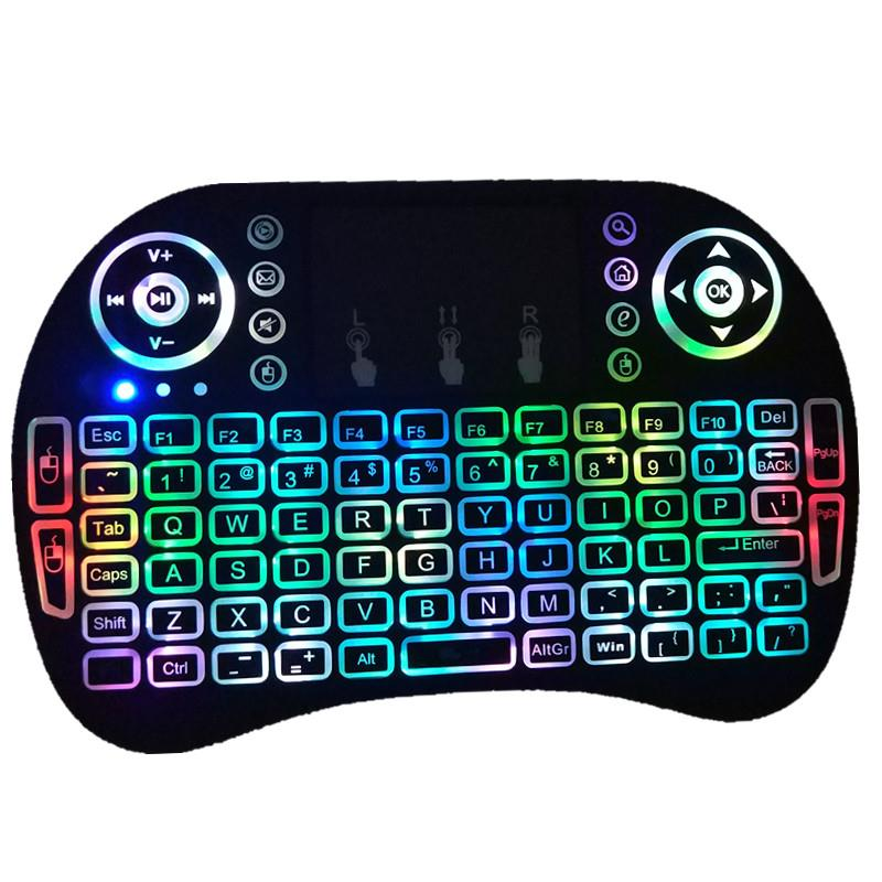 Ktaxon Backlight Led 2.4G Mini Wireless Keyboard Mouse Touchpad Fr Android Smart TV Box