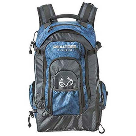 i3 3600 Series Fishing Tackle Backpack by Realtree Fishing, Includes (3) 3600 Bait Trays, Realtree Fishing Blue