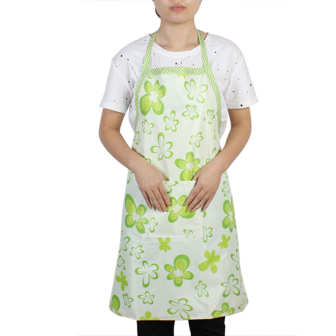 Restaurant Kitchen Household Water Resistant Cooking Apron Bib Dress Green