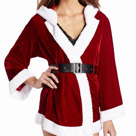 Mens Santa Outfit (Womens Costume Small Complete Outfit Sexy Santa)