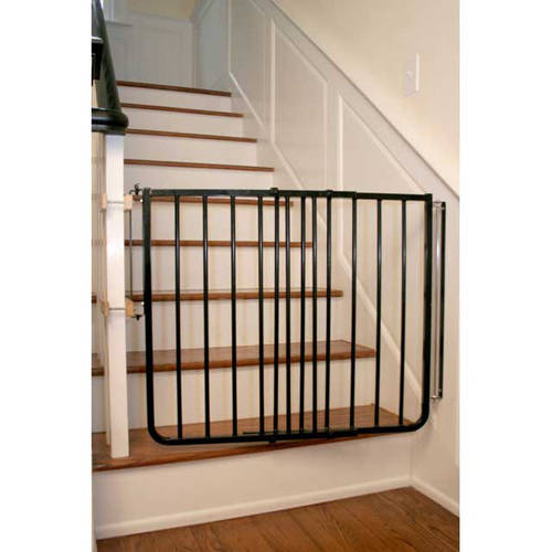 "Cardinal Gates Stairway Special Hardware Mounted Pet Gate, Black, 27"" - 42.5"" x 29.5"""