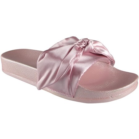 the best attitude f9082 7bbce Slides Shoes | Flat Shoes | Ladies Flat Shoes | Slippers For Women | Comfy  Plain Rubber Bow Sliders Shoes