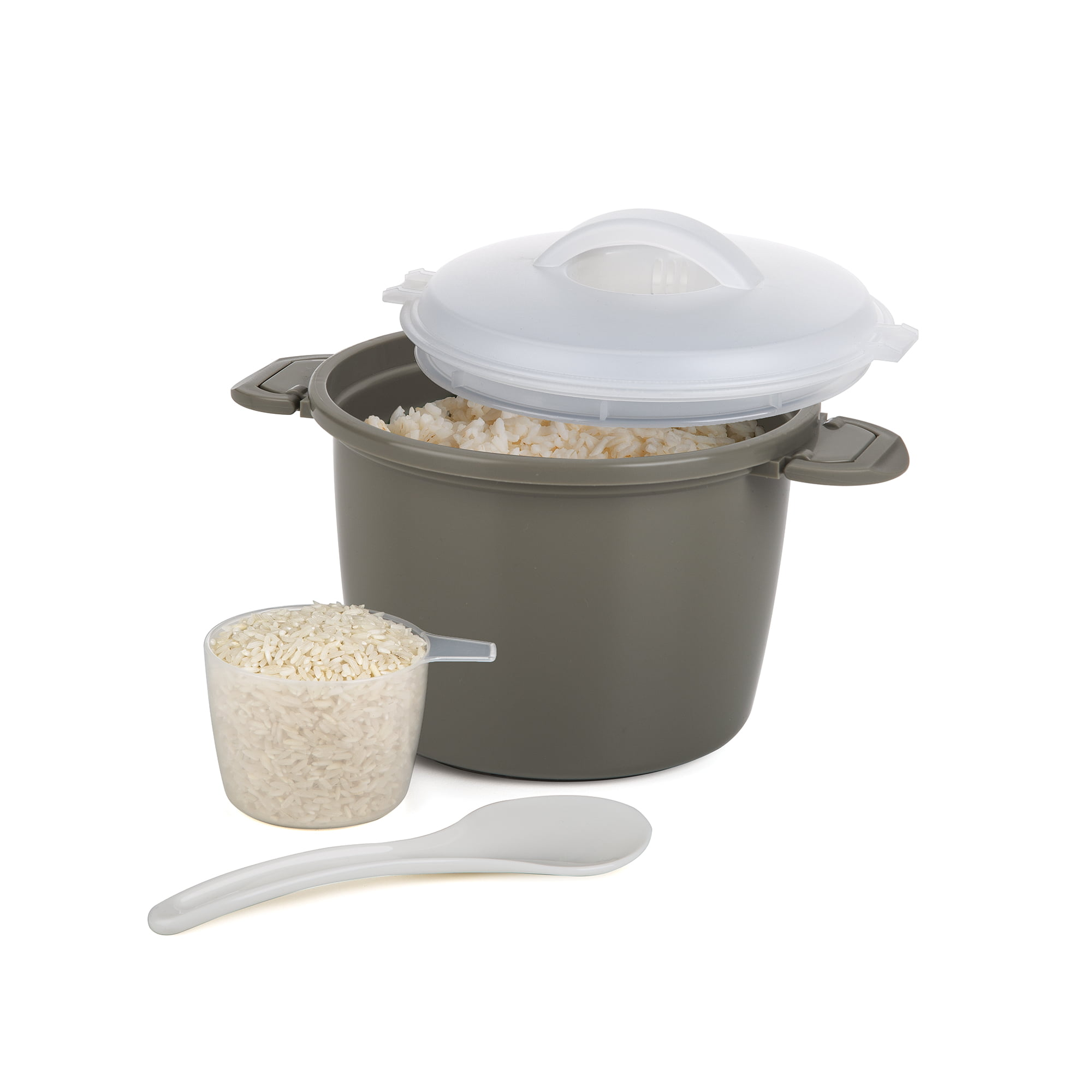 Progressive Prep Solutions Microwave Rice Cooker, 4 Piece Plastic Set - Walmart.com