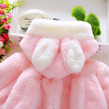 70e731e45 2019 Upgrade 2017 Autumn Winter Baby Infant Girls Fur Thickened Warm Coat  With Hat - image ...