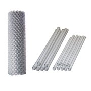 Aleko KITCLF6X50-UNB 6 x 50 ft. Galvanized Steel Chain Link Fence Complete Kit