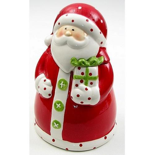 "049-91559 Ceramic Santa Cookie Jar 6.5""W x 9.5""H x 6.5""D by"