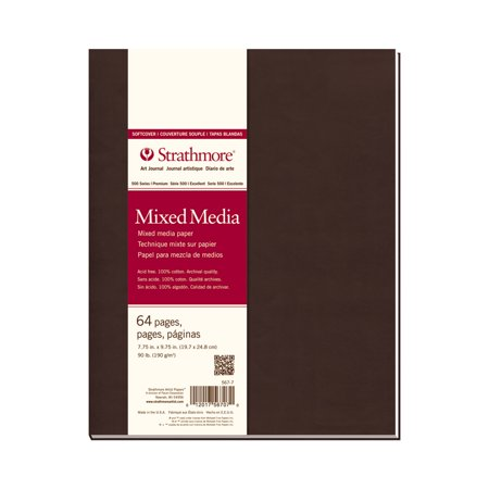 - Strathmore Mixed Media Art Journal, 500 Series, 90 lb., 7.75 inch x 9.75 inch