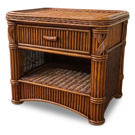 Wicker Paradise Designs Barbados 1 Drawer Rattan Nightstand