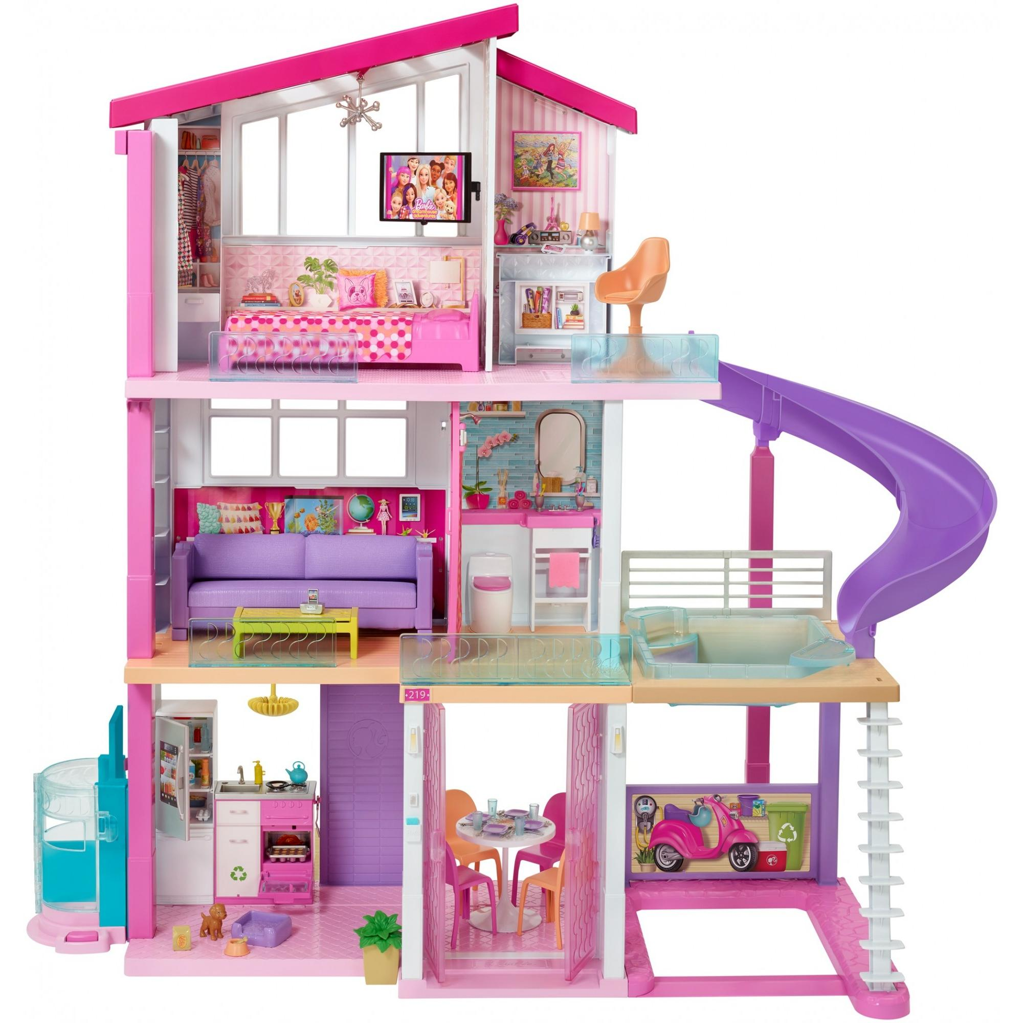 New Barbie DreamHouse Playset with 70+ Accessory Pieces by Mattel