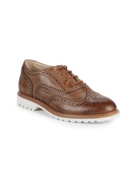 Kenneth Cole Reaction Kids Wing Brogue Leather (Little Kid/Big Kid) Cognac