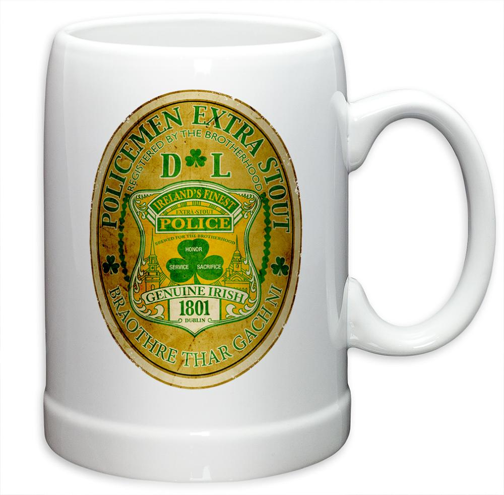Police 20 oz. Stoneware Police Irelands Finest (Case of 24)