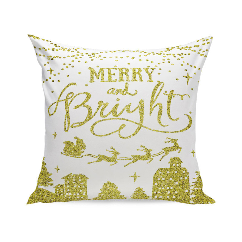 Christmas Super Soft Square Throw Pillow Case Decorative Cushion Pillow Cover by