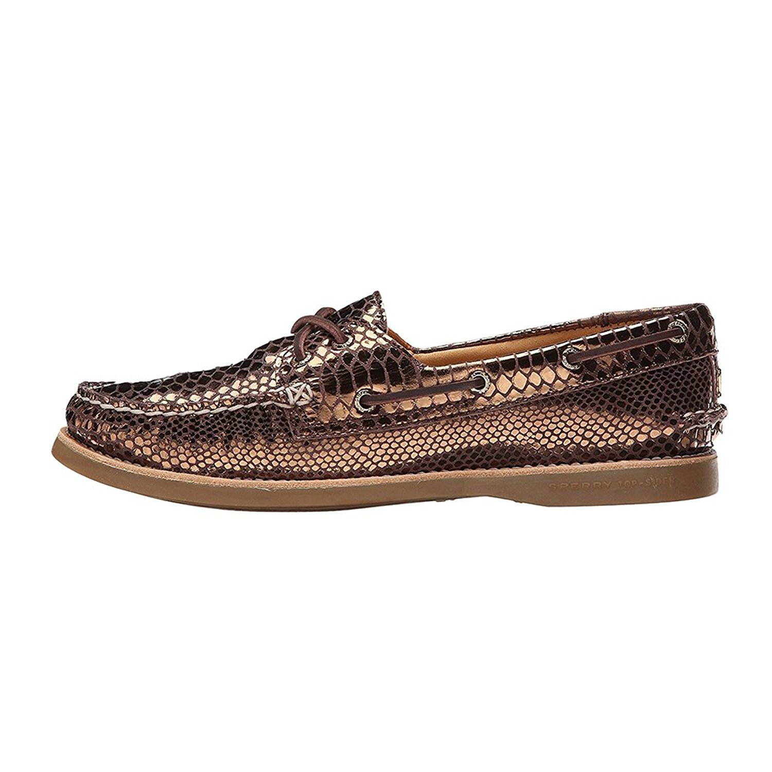 Sperry Top-Sider Women's Gold Cup A/O Boat Sneaker (5 B(M) US, Bronze)