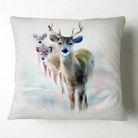 Surprising Design Art Designart Beautiful Deer With Big Horns Animal Throw Pillow Inzonedesignstudio Interior Chair Design Inzonedesignstudiocom