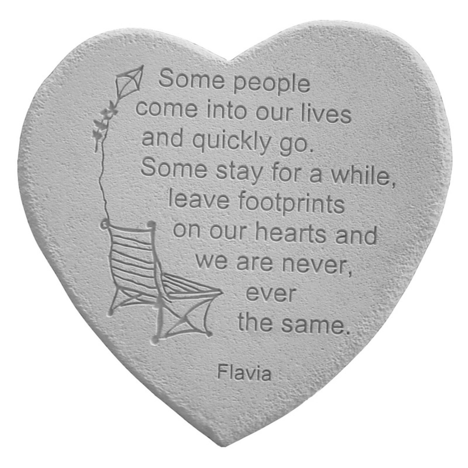 Some People Come Into Our Lives Heart Shaped Memorial Stone