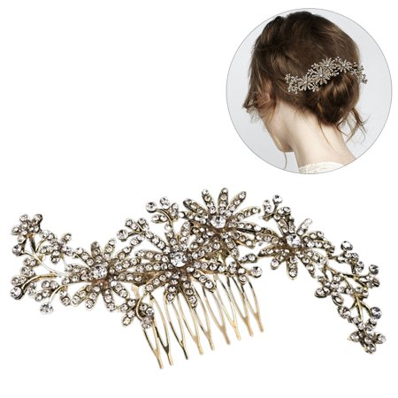 Wedding Hair Combjustdolife Fashion Rhinestone Decor Wedding Comb