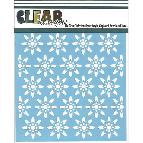 "Clear Scraps Stencils, 12"" x 12"", Seamless Floral #1"