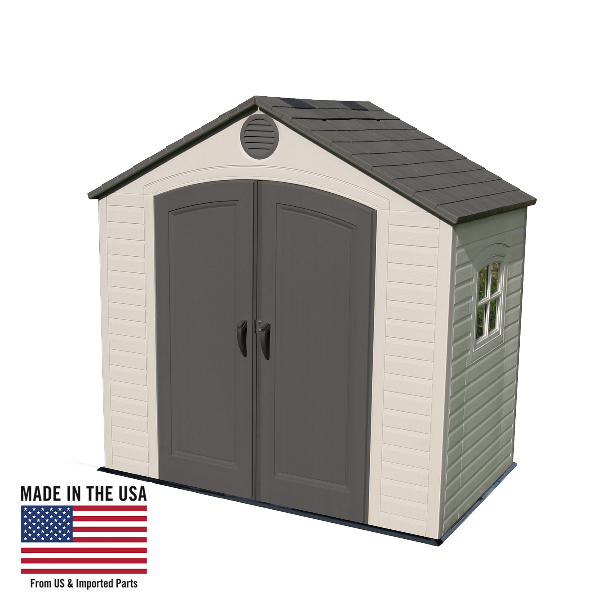 Lifetime 8 Ft. x 5 Ft. Outdoor Storage Shed, Desert Sand