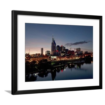 Skyline, Nashville, TN Framed Print Wall Art