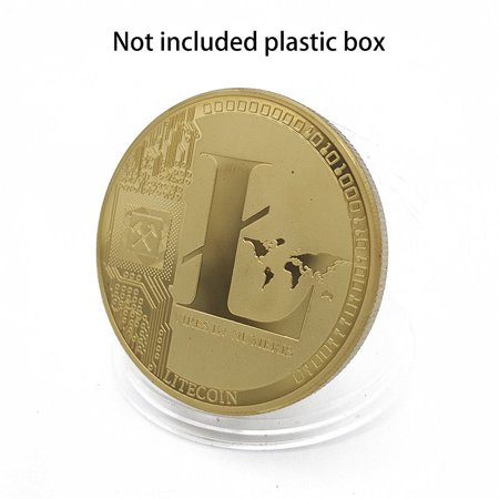 Service Commemorative Coin (Gold Plated Commemorative Litecoin Collectible Golden Iron Miner Coin - One item w/Random Color and Design )
