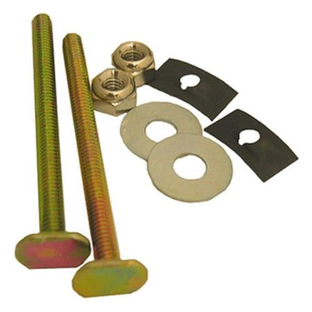 04-3643 Solid Brass 1/4-Inch by 3-1/4-Inch with Nuts and Washers Toilet Bolts, Secures toilet bowl directly to floor By LASCO