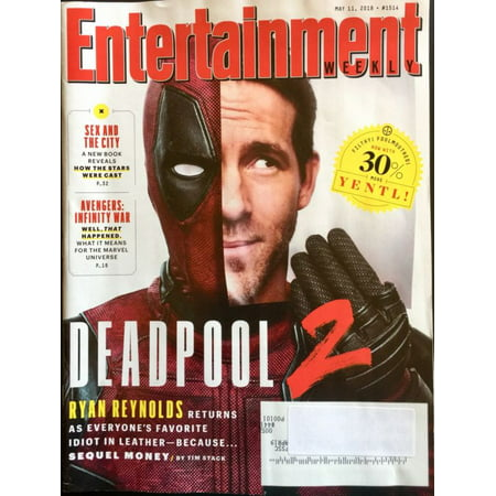 Entertainment Weekly ~ May 11, 2018 ~ Deadpool 2 ~ Ryan Reynolds - Deadpool Halloween Ryan Reynolds