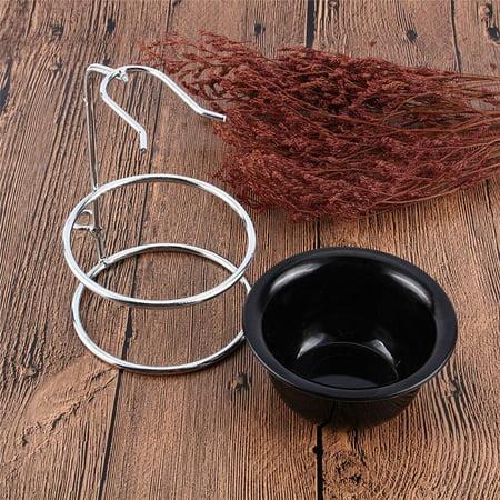 Shaving Brush Stand Holder, Shaving Brush Razor Rack, Men Barber Tool Mug Cup Soap Bowl Travel Set, Drip Stand Holder Rack Facial Cleaning Tool Storage