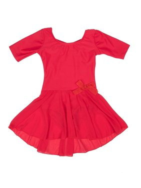 Leveret Kids Girls Skirt Leotard Brown Long Sleeve Size X-Small (4-6 Years)