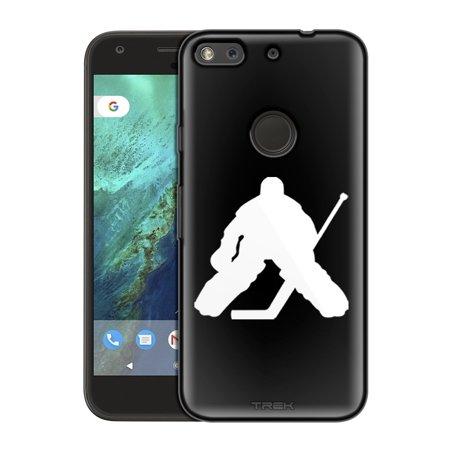 Google Pixel Xl Silhouette Ice Hockey Goalie On Black Slim Case