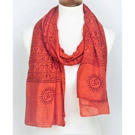 OMSutra OM Mantra Prayer Shawl - Large Orange