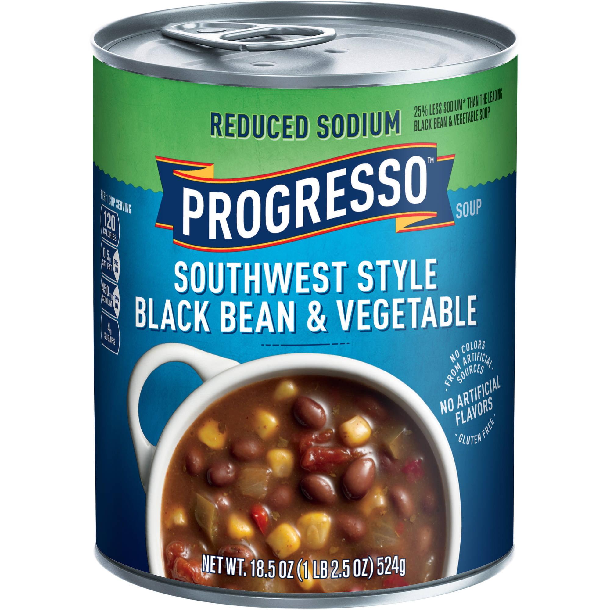 Progresso Low Fat Heart Healthy Southwest Style Black Bean & Vegetable Soup 18.5 oz... by Generic