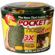 As Seen on TV Water Hose Pocket Hose Ultra, Retractable 50 Feet Garden Hose