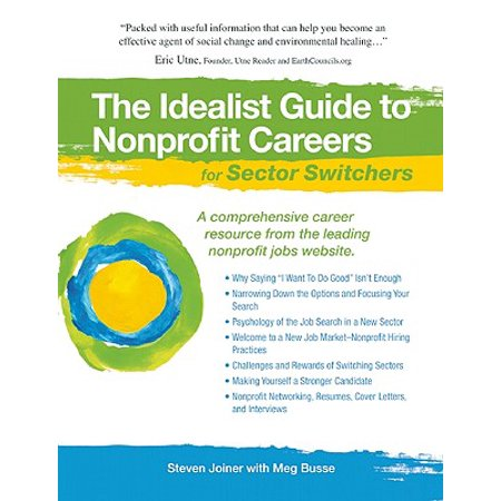 The Idealist Guide to Nonprofit Careers for Sector