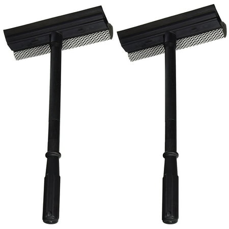 Set of 2 Black Duck Brand Window and Windshield Cleaning Sponge and Rubber Squeegee (2 Pack) ()