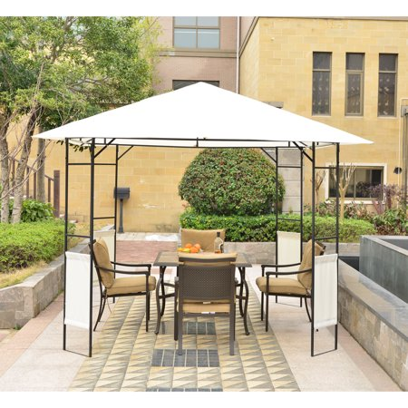 Outsunny Modern 10' x 10' Outdoor Gazebo Canopy Cover - Cream