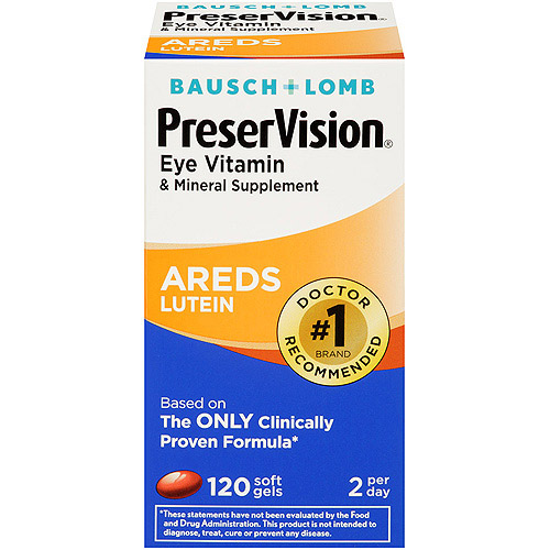 Preservision Lutein Eye Vitamin And Mineral Supplement - 120 Ct