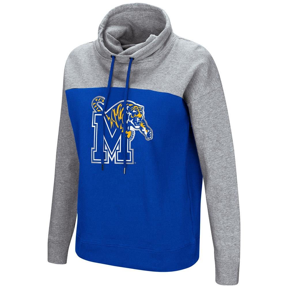 Womens Memphis Tigers Funnel Neck Pull-over Sweater - S